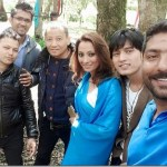 Jharana Bajracharya models in a music video before leaving for Malaysia