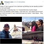 Director Himgyap Lama celebrates his 're-birth' day by visiting earthquake affected areas