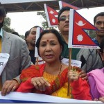Nepali artists rally against Indian blockade and Terai protest
