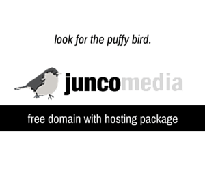 Junco Media: cheap hosting and free domains.