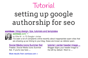setting up google authorship