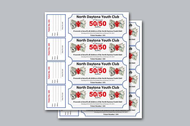 Xpress Copy  Graphics · Full Color Raffle Tickets