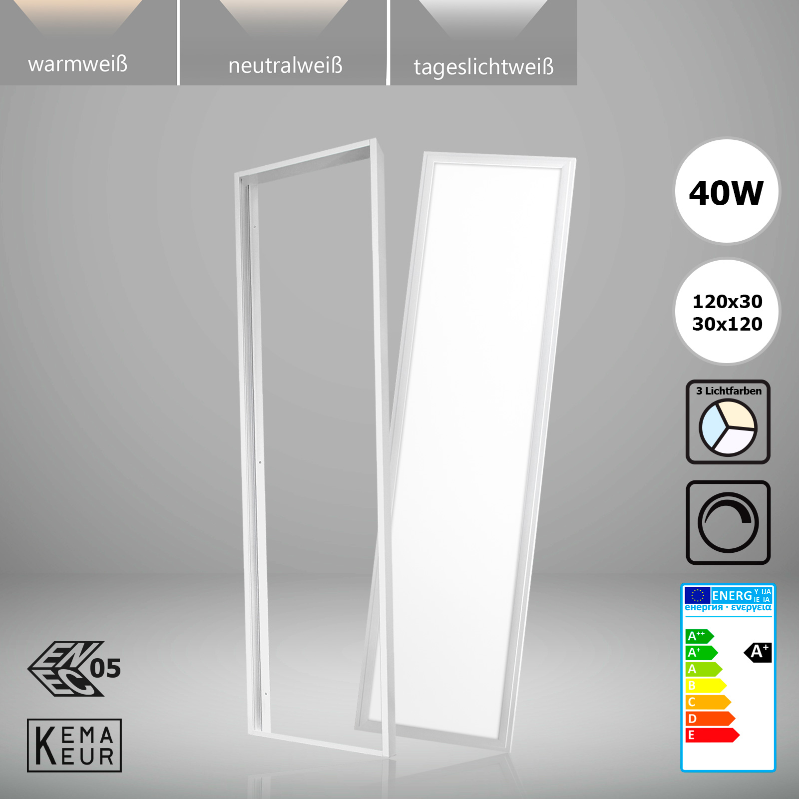 Led Panel Tageslicht Led Panel 120x30 Dimmbar 40w Deckenlampe Warmweiß