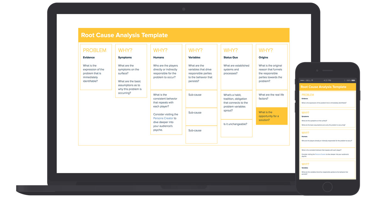 Root Cause Analysis Template and Examples Xtensio - root cause analysis template