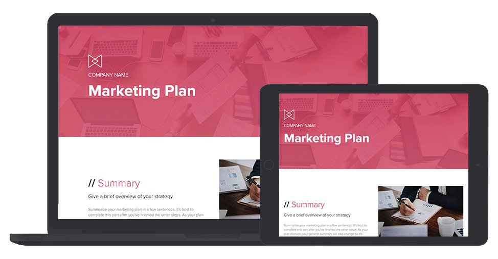 Marketing Plan Template and Examples Xtensio