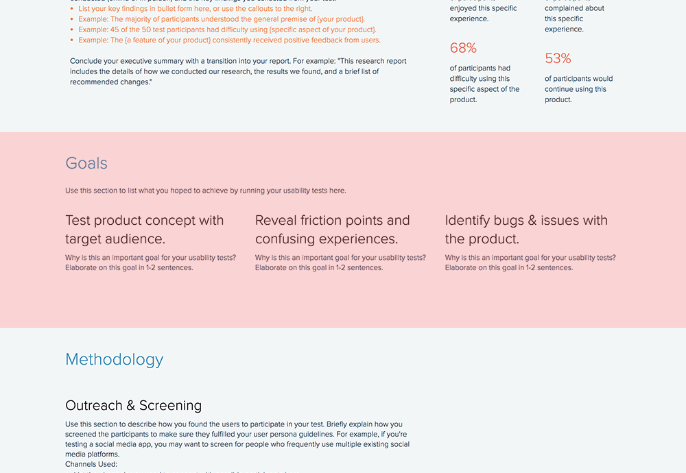 How To Write a Usability Testing Report Xtensio