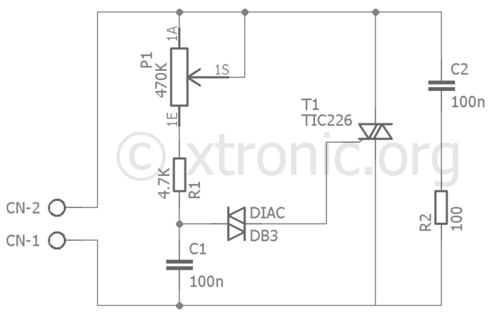 triac dimmer circuit schematic diagram