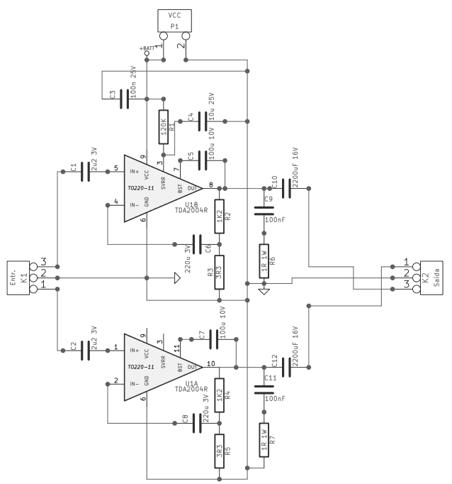 Pleasing Schematic Power Amplifier With Ic An7117 Auto Electrical Wiring Wiring Cloud Favobieswglorg