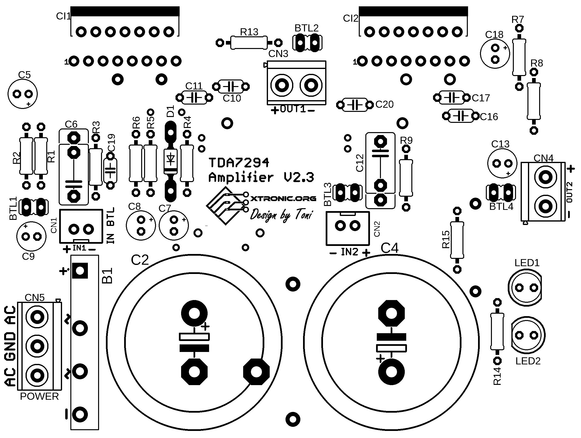50w Power Amplifier With Ic Tda7294 Auto Electrical Wiring Diagram 20w Bridge Tda2005 Simple Electronic Circuit Dynamic