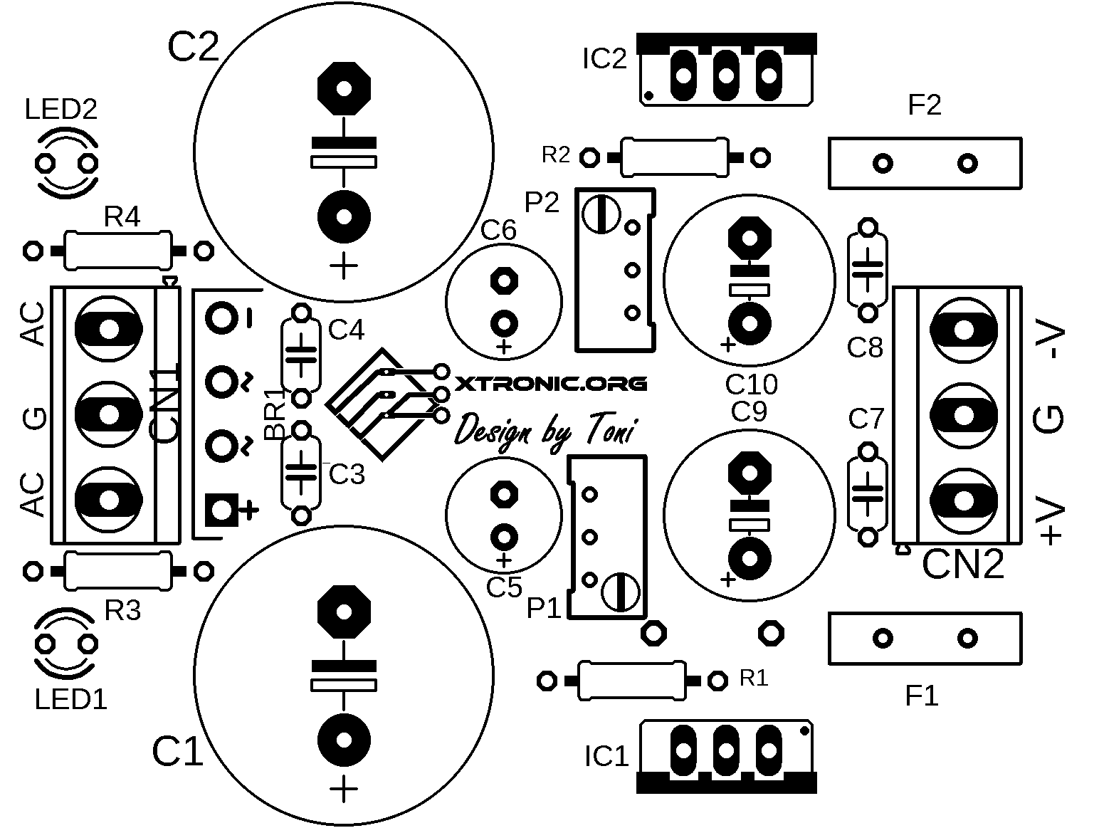 symmetrical regulated power supply schematic power supply circuits