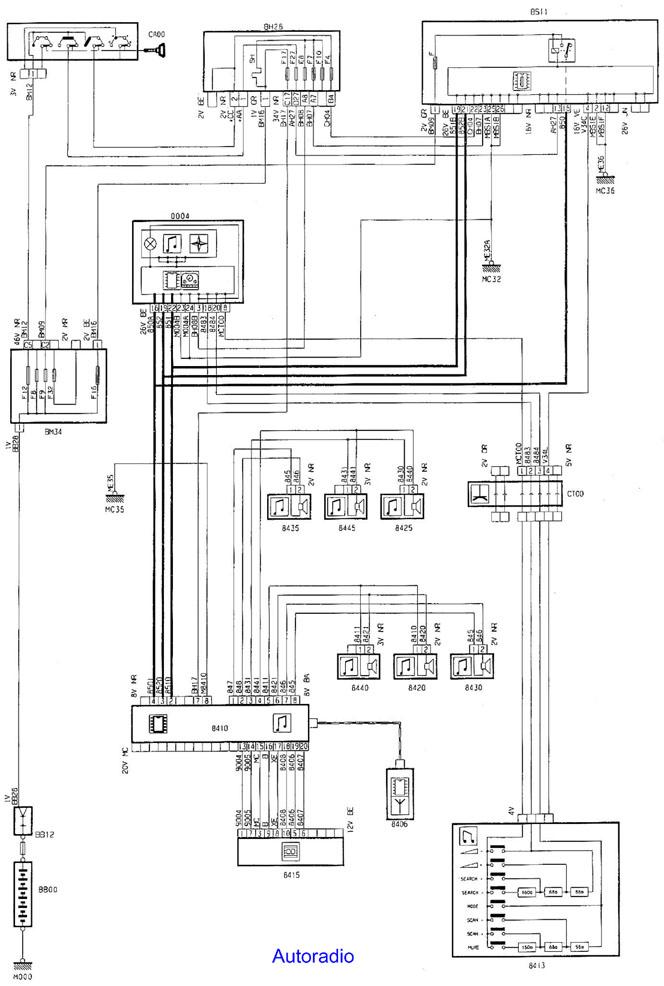 schema cablage autoradio citroen c3