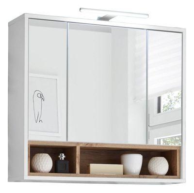 Spiegelschrank Hersteller Bad Spiegelschrank Nano Weiss Hochglanz