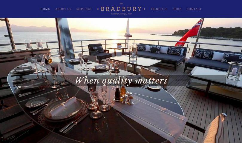 website design, the bradbury ycs, home page, food and wine provisioning, Grand Harbour Marina Malta