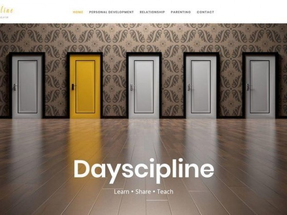 web design, dayscipline, blog about personal development, relationship and parenting