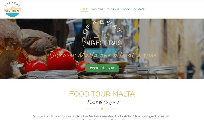 new website, offbeat malta food trails, food tour Valletta