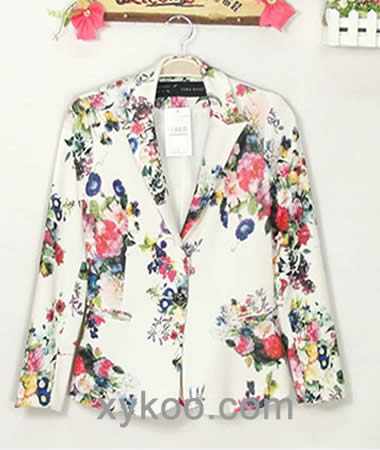This Print Fashion Style Women Button Jacket Coat Is Only