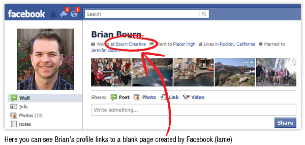 Link Your Facebook Profile Employer Link to The Right Facebook Page