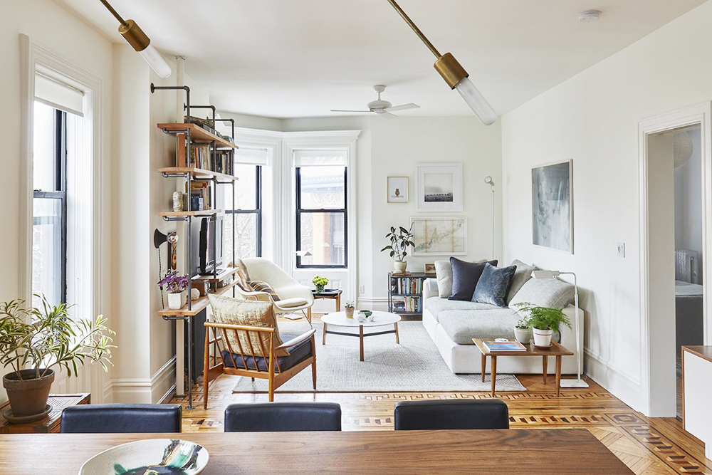 6 Tips to Make a Small Space Look Larger - The Chriselle Factor - how to make a small living room look bigger