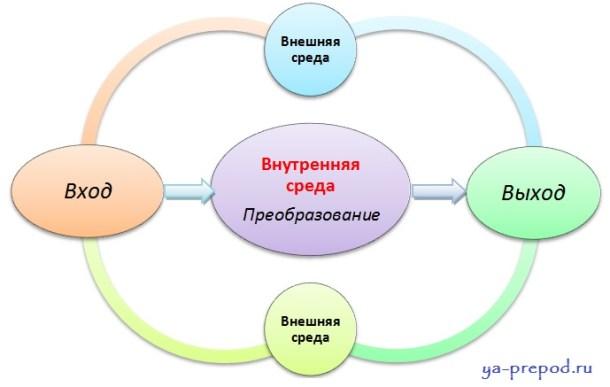 Открытая система схема - Системный подход к управлению3