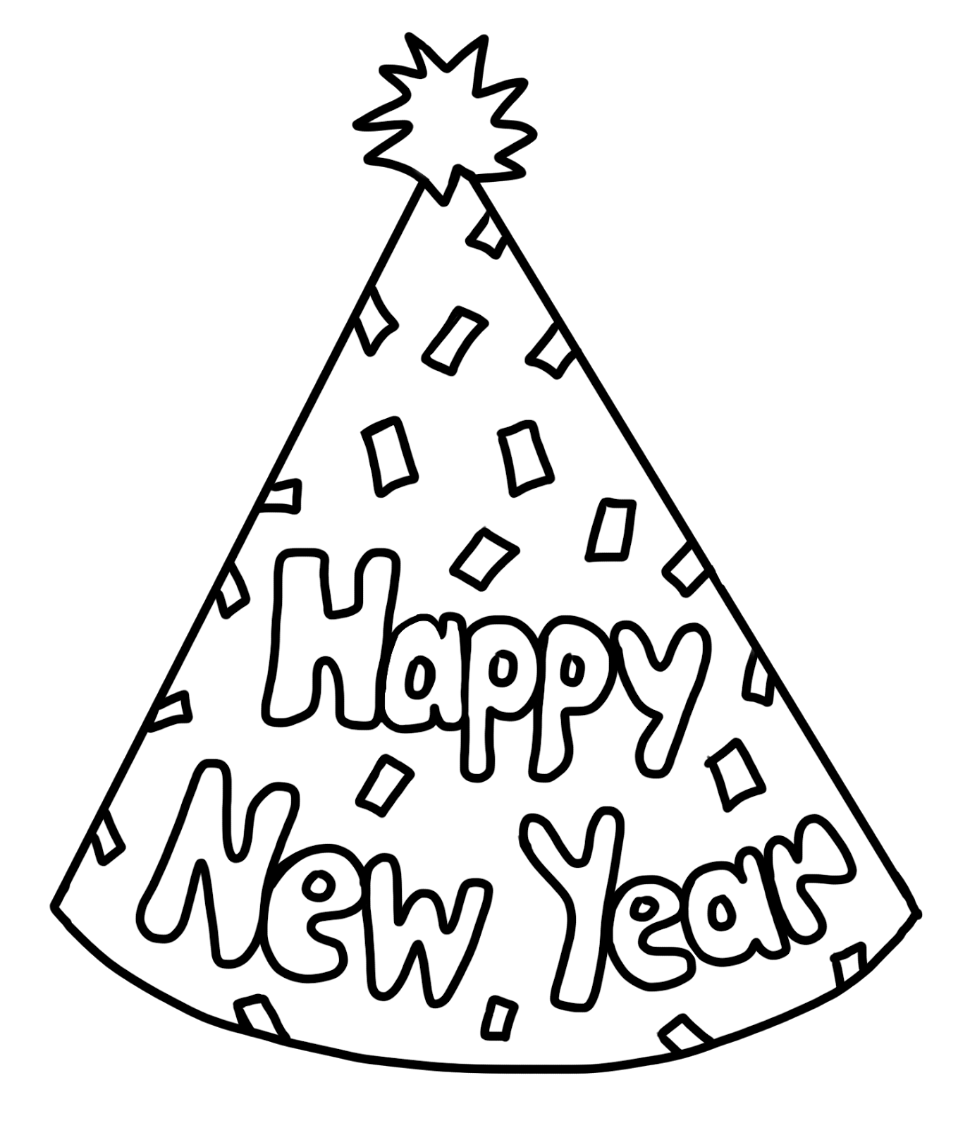 Party Hat Clipart Black And White Jpg Torotot New Year Clip Art New Years Horn Clipart 243323