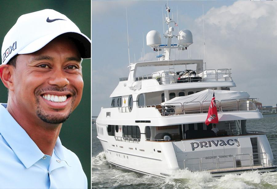 tiger woods yacht privacy for sale