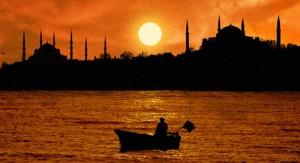 غروب الشمس اسطنبول