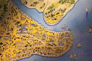 خريطة قديمة للقسطنطينية