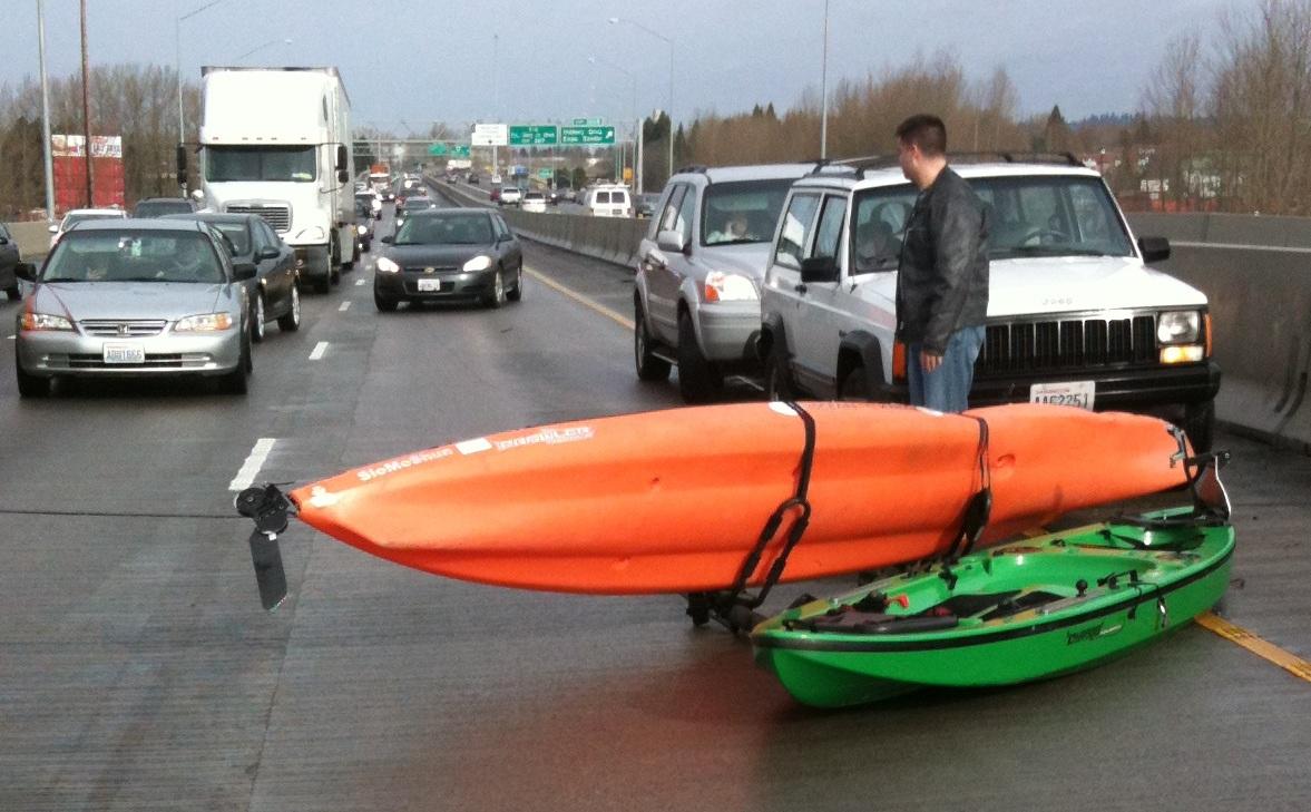Marda Here Homemade Kayak Trailer Rack