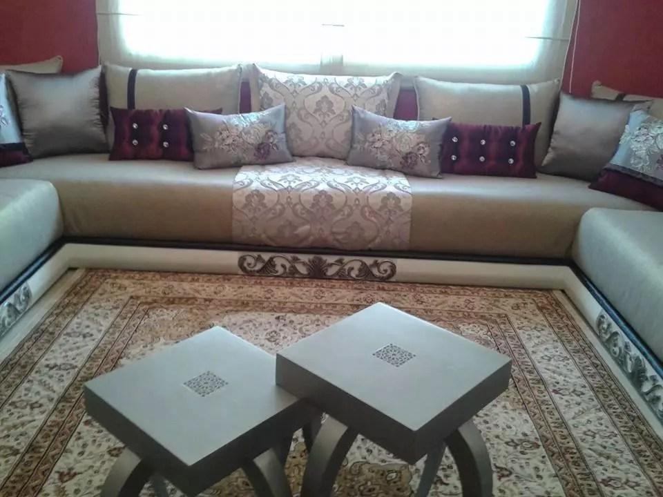 Salon Marocain Blanc Moderne