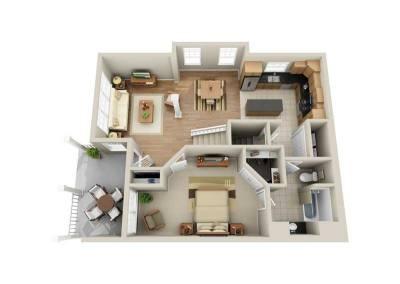 3 Bedroom 2-Story End Unit 1st-Floor