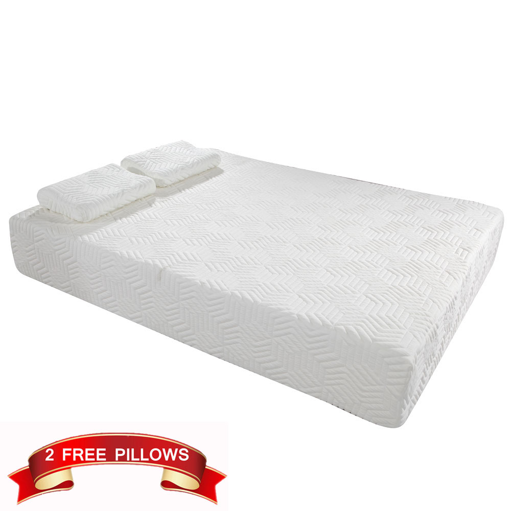 Beds Memory Foam Mattress Details About 10 Inch Full Size Traditional Firm Memory Foam Mattress Bed With 2 Feel Pillows