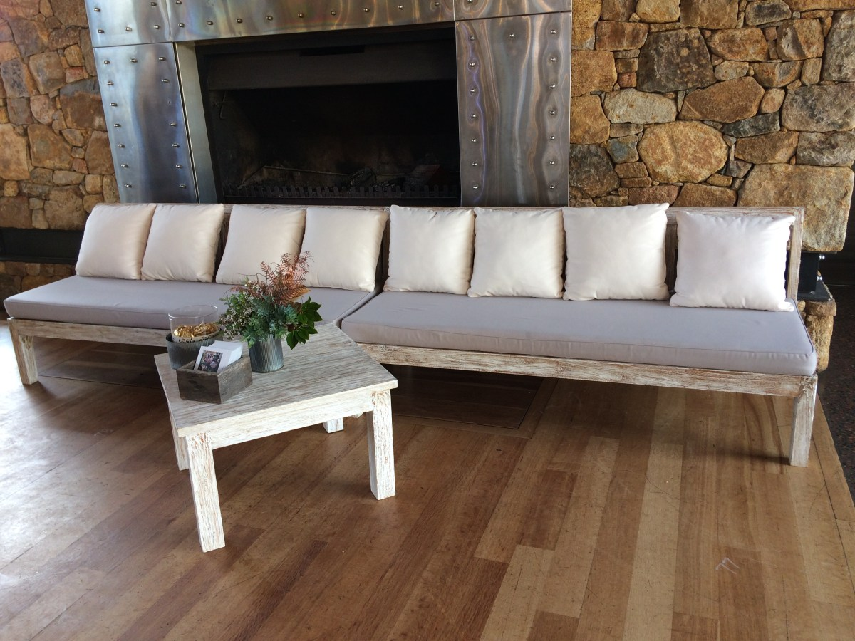 White And Timber Coffee Table White Wash Timber Lounge And Coffee Table Set Yallingup