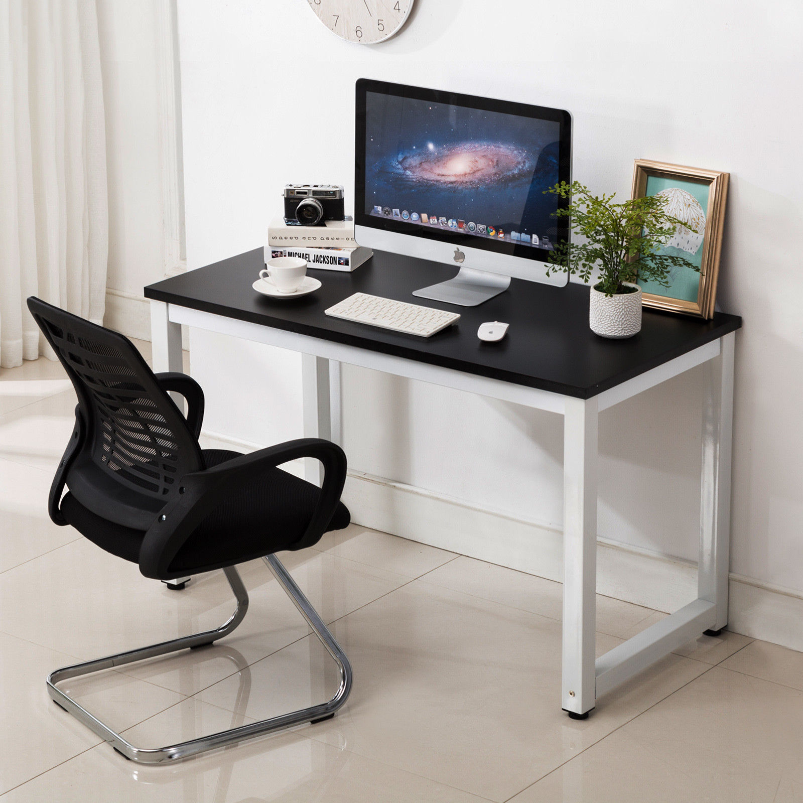 Workstation Furniture Details About Computer Desk Pc Laptop Table Writing Workstation Home Office Furniture Black