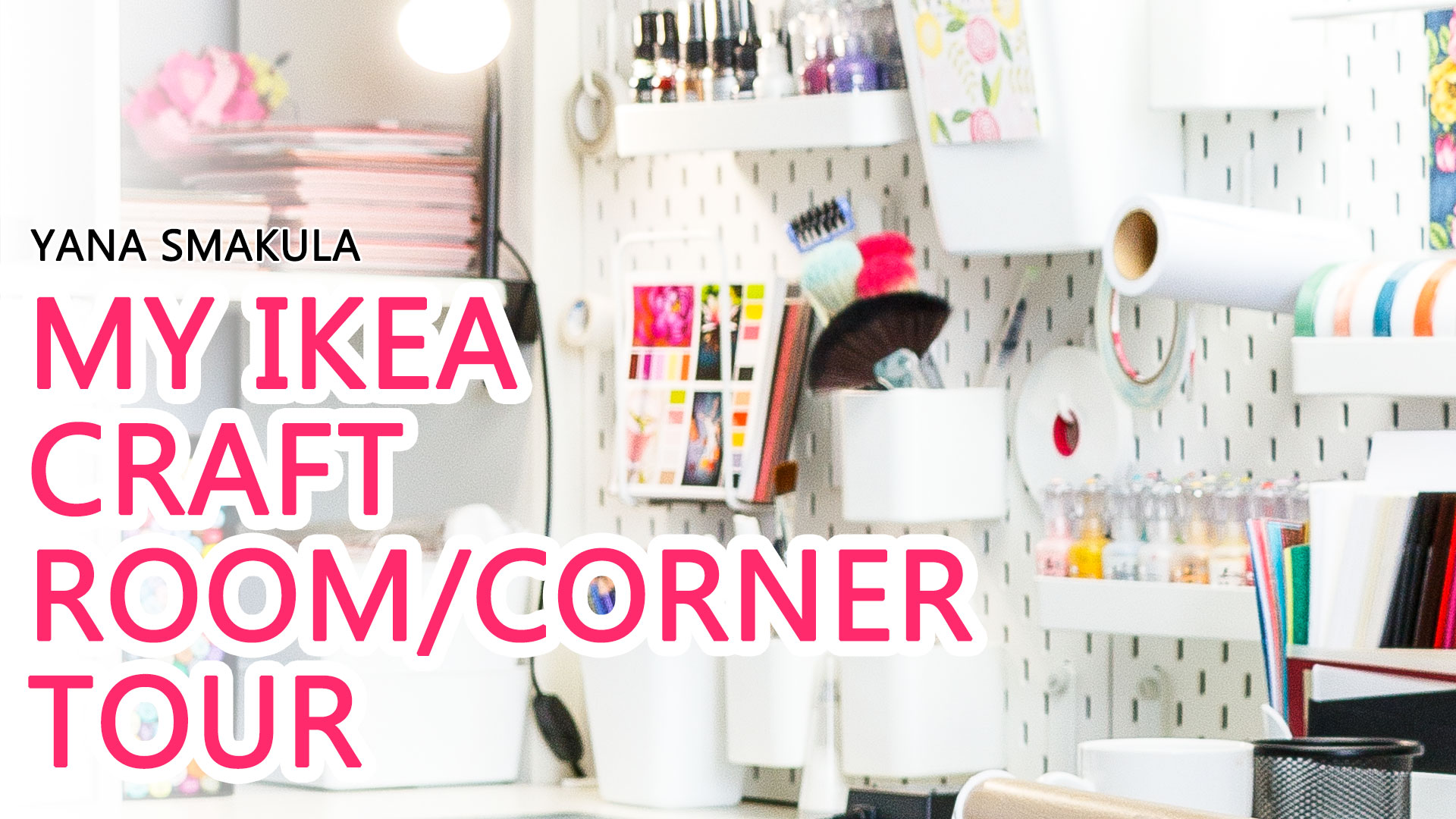 Ikea Expedit Youtube My Ikea Craft Room Craft Corner Tour 2018 Yana Smakula
