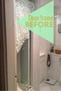 DIY chevron doorway with washi tape | yankeedoodles