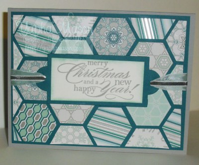 Hexagon Winter Frost Quilt Card by Yapha Mason