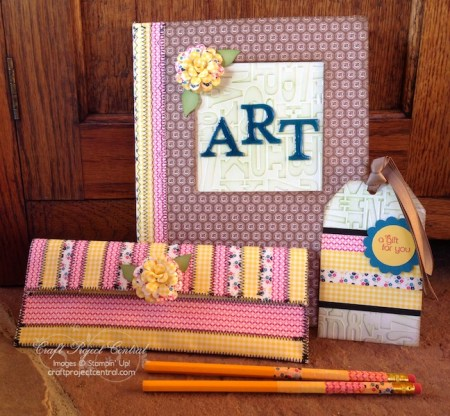 Altered Diary & Pencil Case