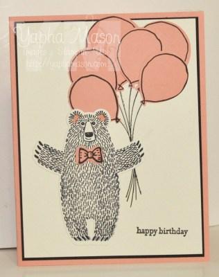 Birthday Bear by Yapha
