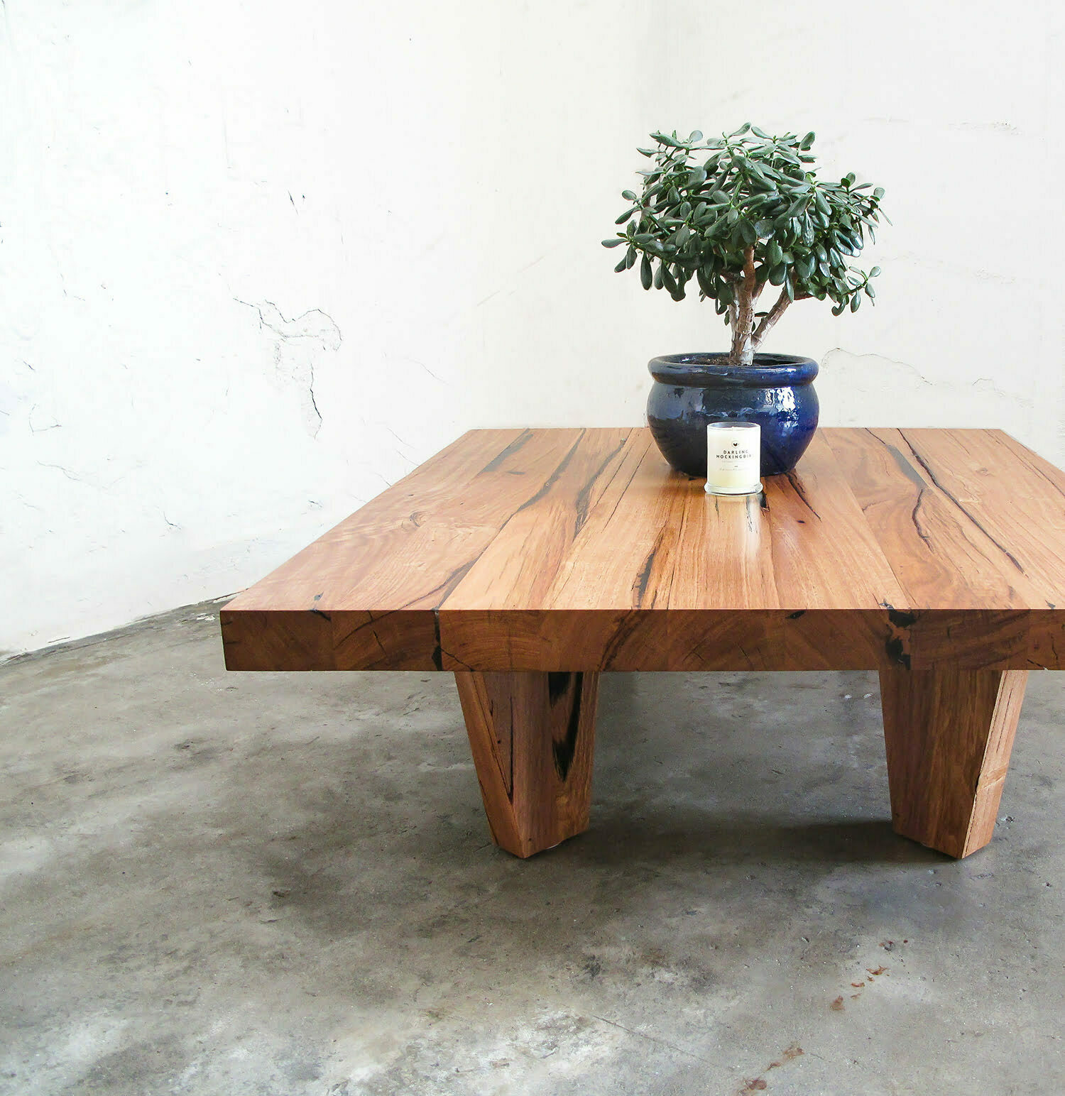 Solid Timber Coffee Table Low Rider Coffee Table Recycled Timber Furniture Melbourne Yard