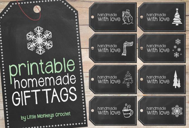 Free Printable Handmade Chalkboard Gift Tags