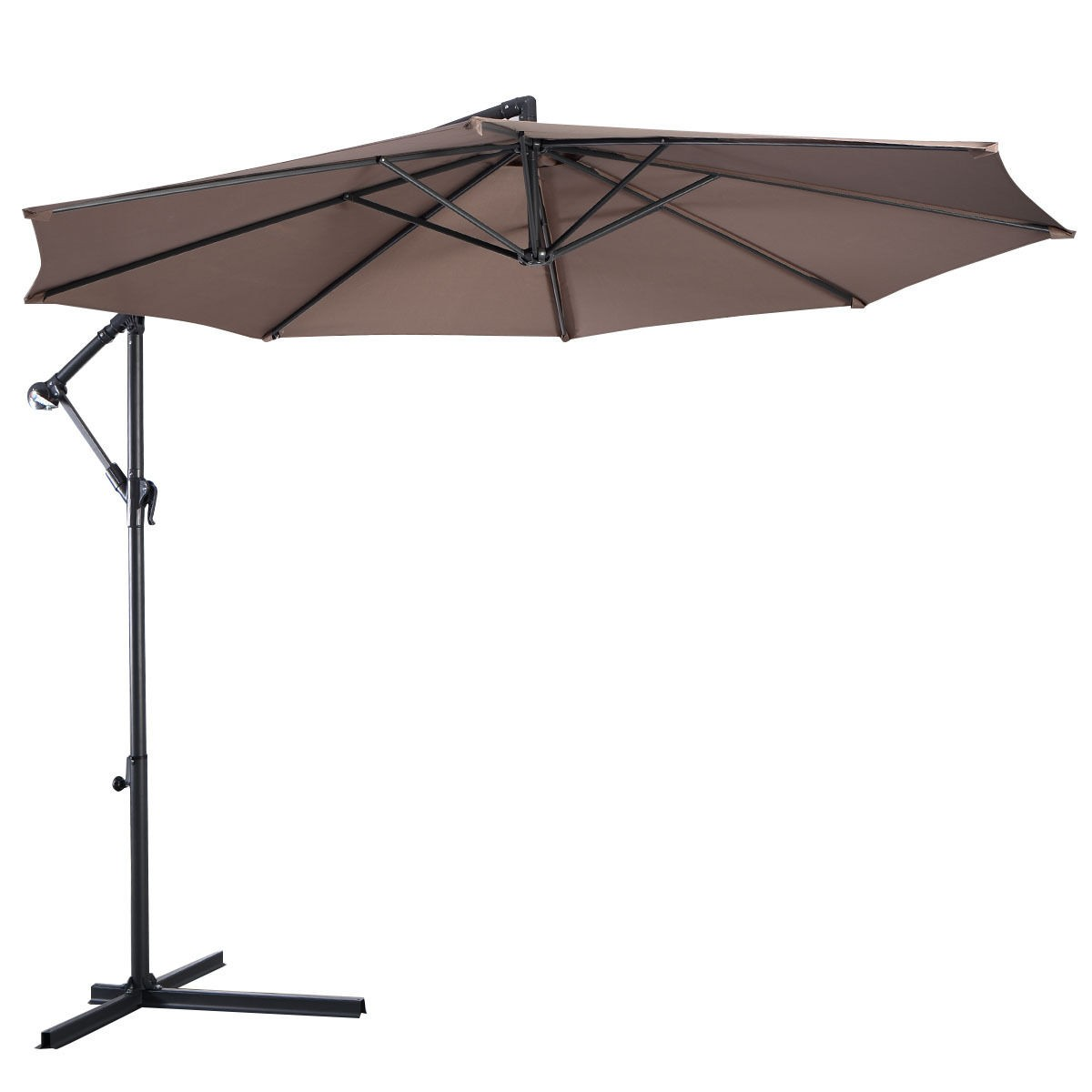 Outdoor Shade Umbrella Goplus 10 39 Hanging Umbrella Patio Sun Shade Offset Outdoor
