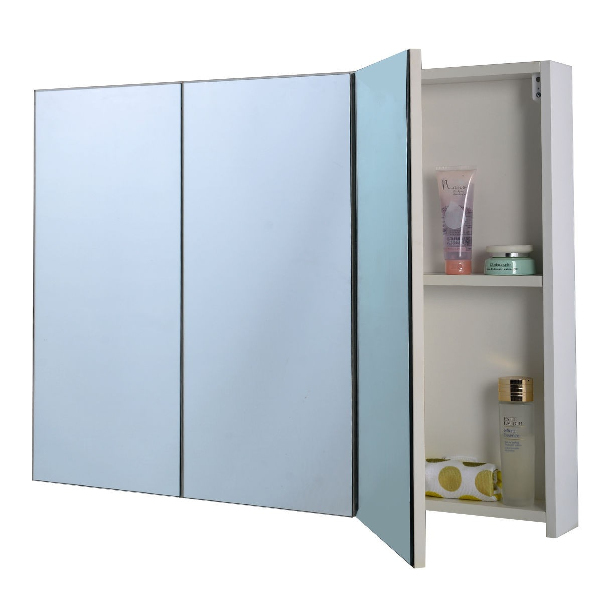 Mirrored Bathroom Cupboard 3 Mirror Door 36 Quot 20 Quot Wide Wall Mount Mirrored Bathroom