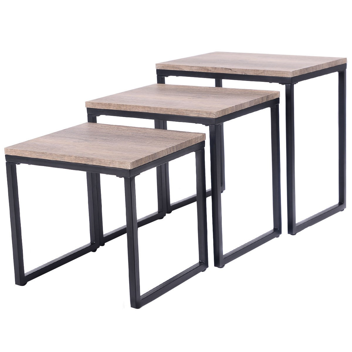 Stacking End Tables 3pc Stacking Nesting Coffee End Table Set Living Room