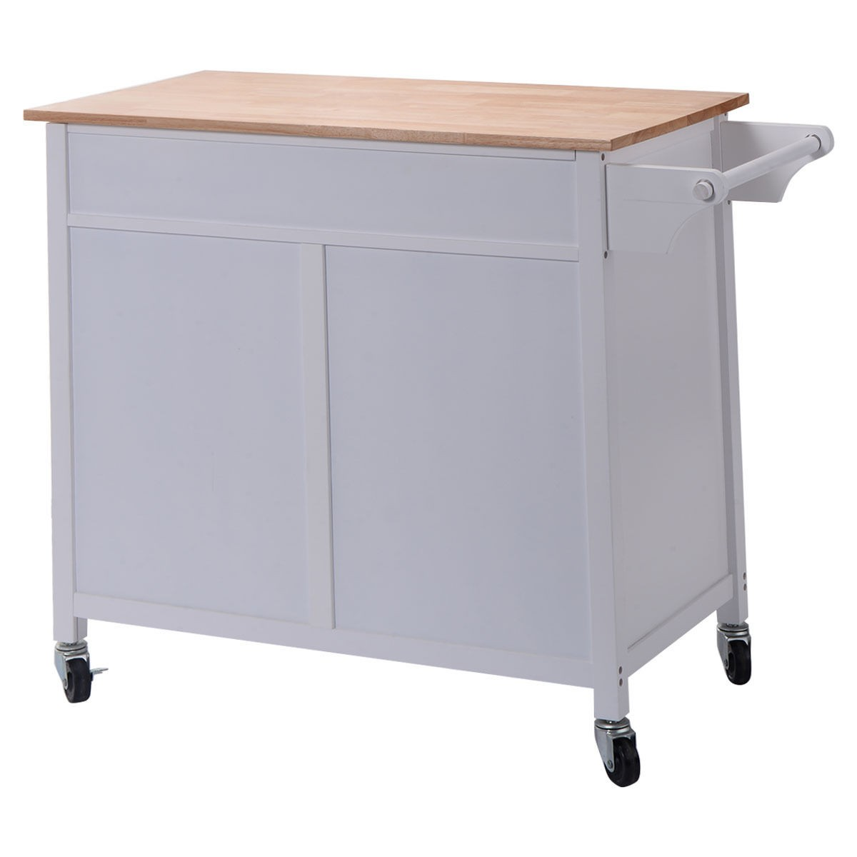 Utility Kitchen Cabinet Us Portable Kitchen Rolling Cart Wood Island Serving