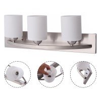 3 Light Glass Wall Sconce Lampshade Pendant Fixture Vanity ...