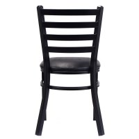 2PC Set Metal Dining Chairs Upholstered Home Dining ...