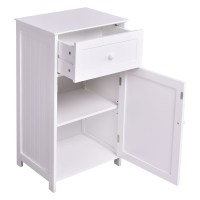 Kitchen Bathroom Storage Cabinet Floor Stand White Wood ...