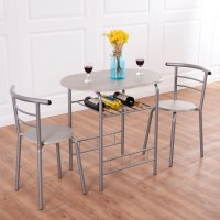 3pcs Bistro Dining Set Small Kitchen Indoor Outdoor Table ...