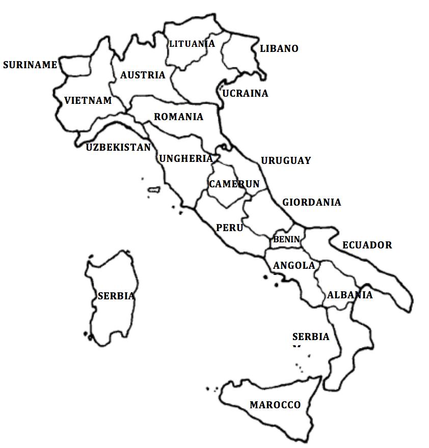 Cartina Dell Italia Da Stampare E Colorare