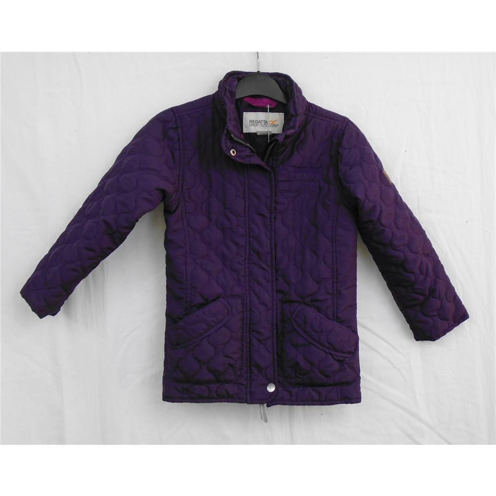 Beganta Regatta Purple Padded Jacket Age 5 6 Oxfam Gb Oxfam S Online Shop